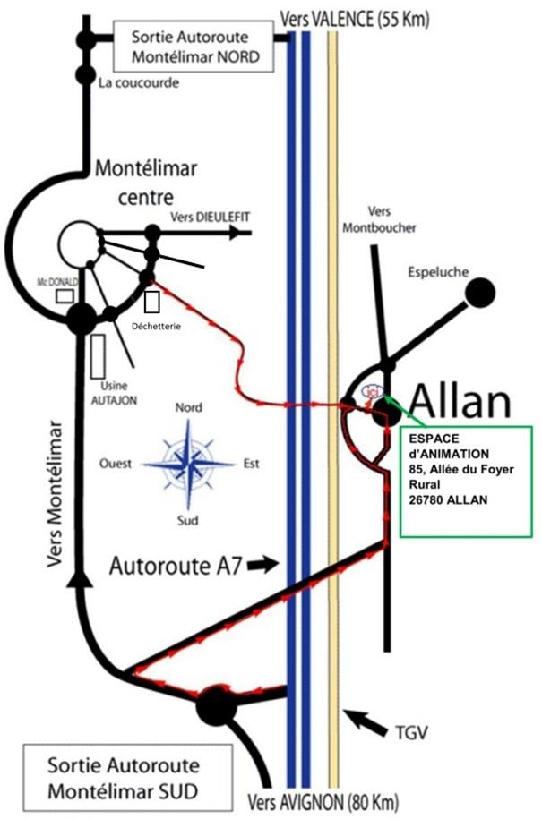 Plan d'accès Allan 2016